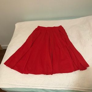 LuLaRoe Red Madison Skirt size XS